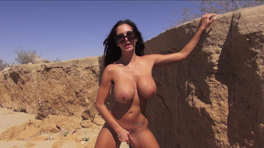 Ava Addams Shows Off Her Big Tits Outdoors